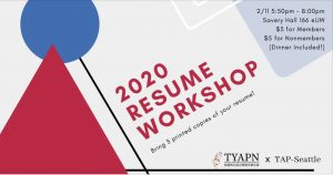 TYAPN Resume Workshop 2020 feat. TAP-Seattle Reviewers