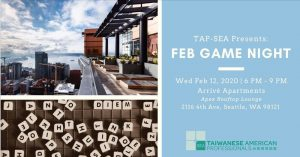 TAP-Sea Presents: Feb Game Night