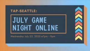 TAP-Sea: July Game Night Online