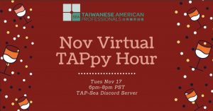 TAP-Sea: Nov Virtual TAPpy Hour