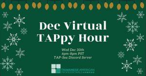 Dec Virtual TAPpy Hour