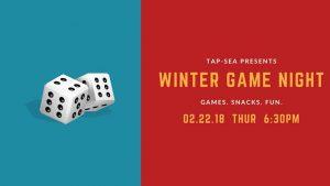 Tap-SEA Presents: Winter Game Night