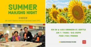 Summer Mahjong Night @ Kin On | Seattle | WA | United States